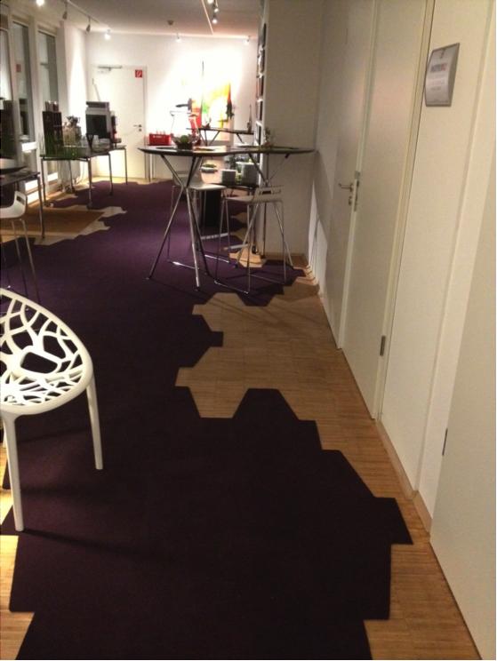 Kreative Teppichboden-/Fliesen-Gestaltung