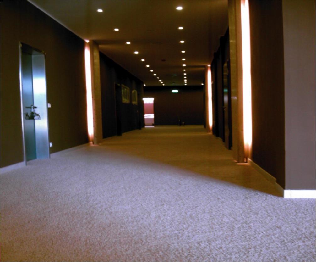 hochwertiger Teppichboden im Spa-Bereich