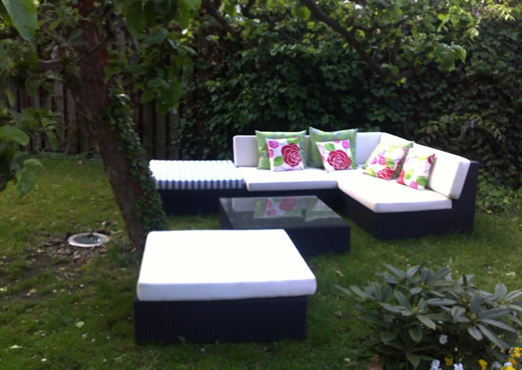 individuelle Polsterauflagen für Gartenmöbel