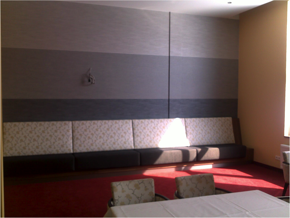 Polsterarbeit Hotel